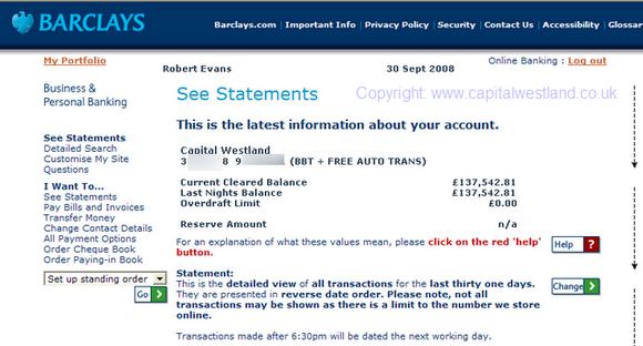 Robert Evans Capital Westland income proof